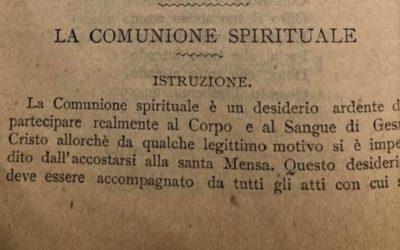 Sant'Alfonso e la comunione spirituale
